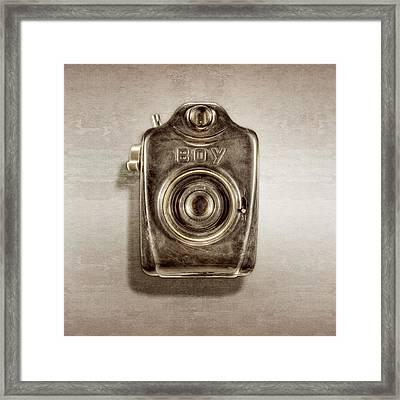 Boy Camera Front Framed Print