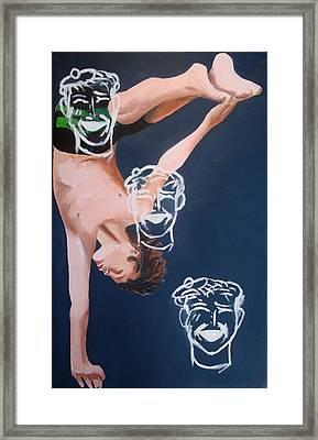 Boy Diver With 3 Tam-o-shanters Framed Print by Geoff Greene