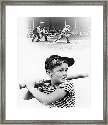 Boy Dreams Of Baseball, C.1930s Framed Print by H. Armstrong Roberts/ClassicStock