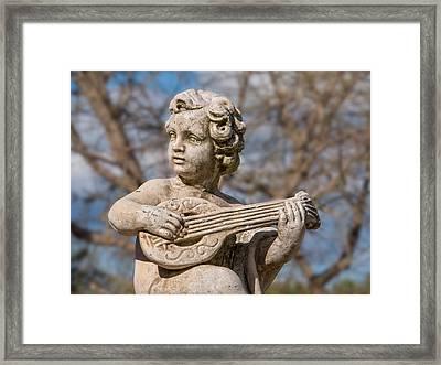 Boy Lute Statue Framed Print by Billy Soden