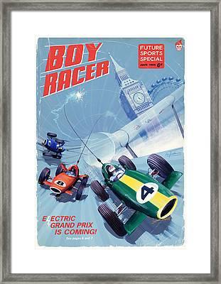 Boy Racer Framed Print by Alex Tomlinson