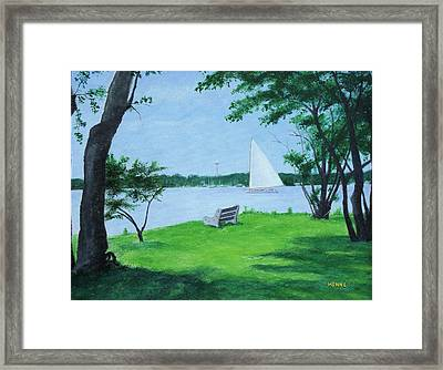 Boy Scout Island Framed Print by Robert Henne