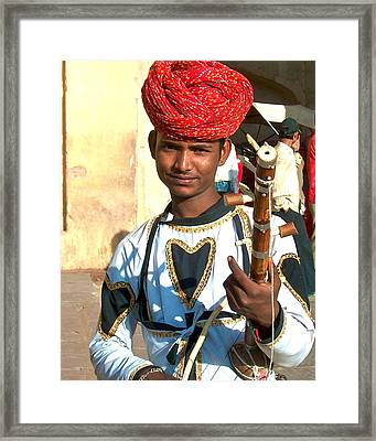 Boy With A Flute Framed Print by Dorota Nowak