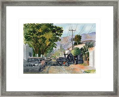 Boy With Bike, Mx Framed Print