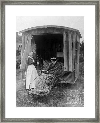 Boy With Tuberculosis In Bath Chair Framed Print by Wellcome Images