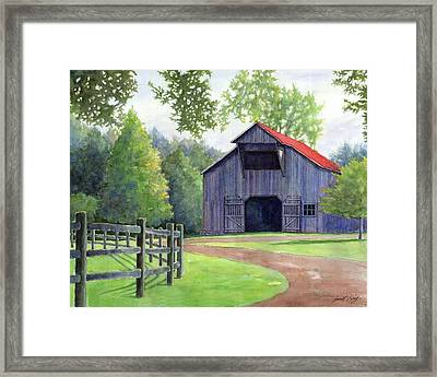 Boyd Mill Barn Framed Print