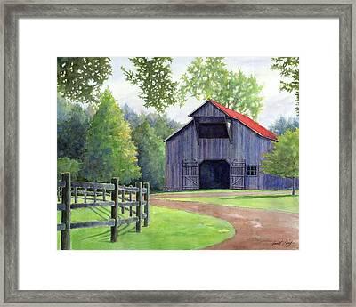 Boyd Mill Barn Framed Print by Janet King