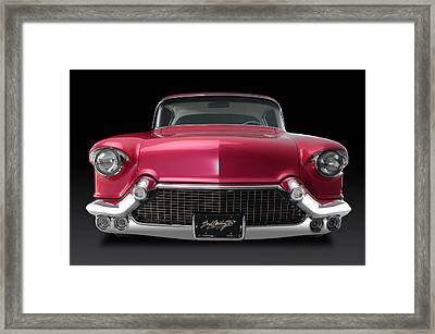 Boyd's '57 Pink Cadillac Framed Print by Dennis Fugnetti