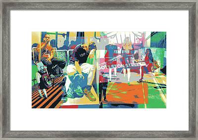 Boylston Framed Print by Shay Culligan