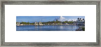 Boynton Beach Inlet Harbor Panorama Framed Print by Debra and Dave Vanderlaan