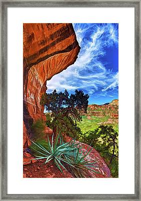 Boynton Canyon Cliffs 1 Framed Print by ABeautifulSky Photography
