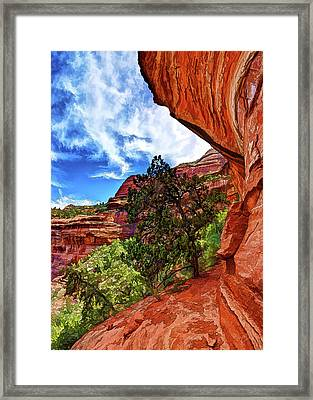 Boynton Canyon Cliffs 2 Framed Print by ABeautifulSky Photography