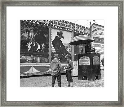 Boys At Circus Entrance, C.1920s Framed Print by H. Armstrong Roberts/ClassicStock