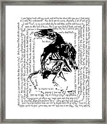 Boy's Baby Bird Framed Print
