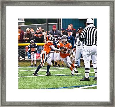 Boys Football Framed Print by Susan Leggett