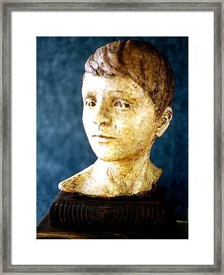 Boy's Head Framed Print by Sarah Biondo