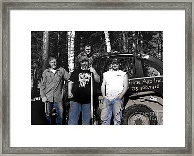 Boys In Blue Framed Print by The Stone Age