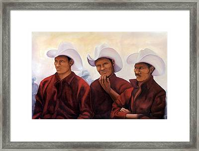 Boys In The Band Framed Print by Irene Corey