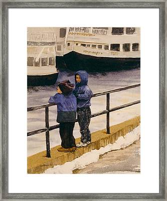 Boys N Boats Framed Print