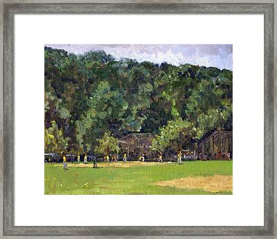 Boys Of Summer Baseball In Inwood Nyc 8x10 Original Plein Air Impressionist Fine Art Framed Print