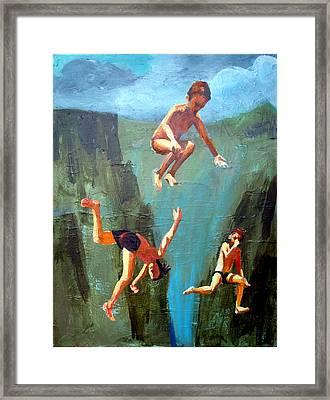 Boys Of Summer Framed Print by Geoff Greene