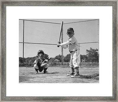 Boys Playing Baseball, C. 1960s Framed Print by H. Armstrong Roberts/ClassicStock