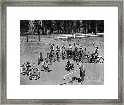 Boys Playing In A Sand Lot, C.1950s Framed Print by D. Corson/ClassicStock