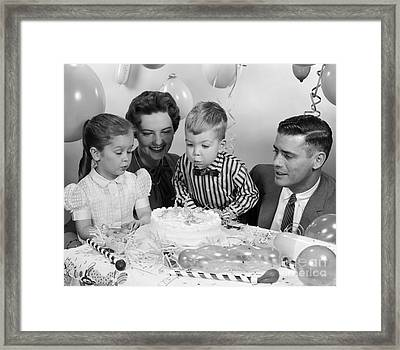 Boys Second Birthday Party, C.1950s Framed Print by H. Armstrong Roberts/ClassicStock
