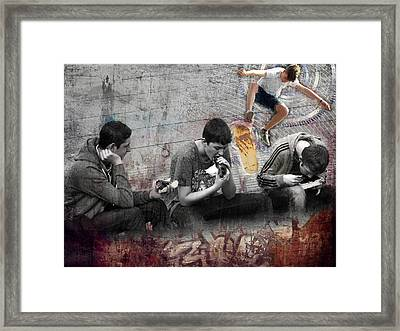 Boys Will Be Framed Print