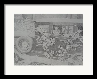 A Hot Summer Day Drawings Framed Prints