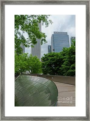 Bp Bridge Chicago Framed Print by Jennifer White