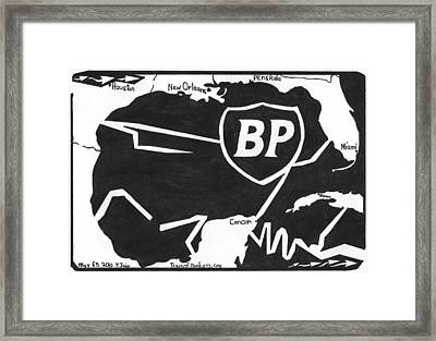 Bp Oil Slick Framed Print