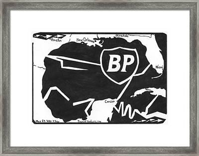 Bp Oil Slick Framed Print by Yonatan Frimer Maze Artist