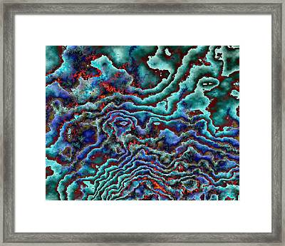 Bp Oil Spill Framed Print by Cathy Jourdan