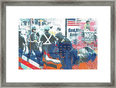 Boston Police Busted Framed Print by Shay Culligan