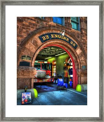 Boston Fire Dept - Engine 33 Ladder 15 Framed Print