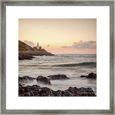 Bracelet Bay And The Mumbles Lighthouse Framed Print by Colin and Linda McKie
