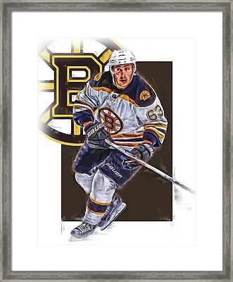 Brad Marchand Boston Bruins Oil Art Framed Print by Joe Hamilton
