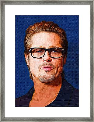 Brad Pitt Art Framed Print by Best Actors