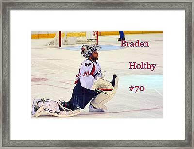 Braden Holtby #70 Framed Print by Lisa Wooten