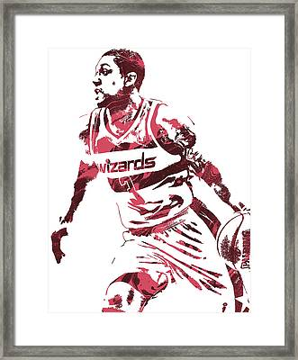 Bradley Beal Washington Wizards Pixel Art 3 Framed Print