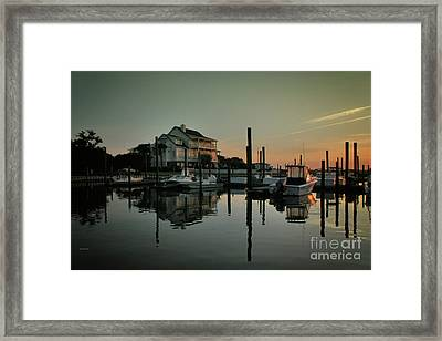 Framed Print featuring the photograph Bradley Creek At Dawn by Phil Mancuso