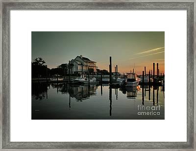 Bradley Creek At Dawn Framed Print by Phil Mancuso