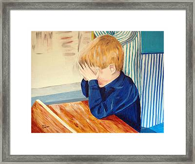 Brads Very Bad Day Framed Print by Kevin Callahan