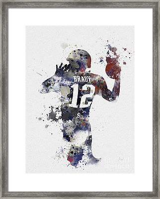 Brady Framed Print by Rebecca Jenkins