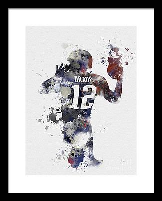 Tom Brady Framed Prints