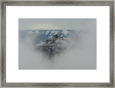 Brahma Temple In A Sea Of Clouds Framed Print