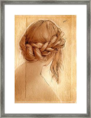 Braid Framed Print by H James Hoff
