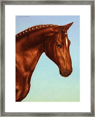 Braided Framed Print by James W Johnson