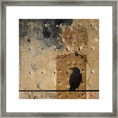 Braille Crow Framed Print